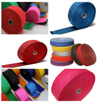 colorfull Fiberglass Exhaust Wrap heat wrap high quality
