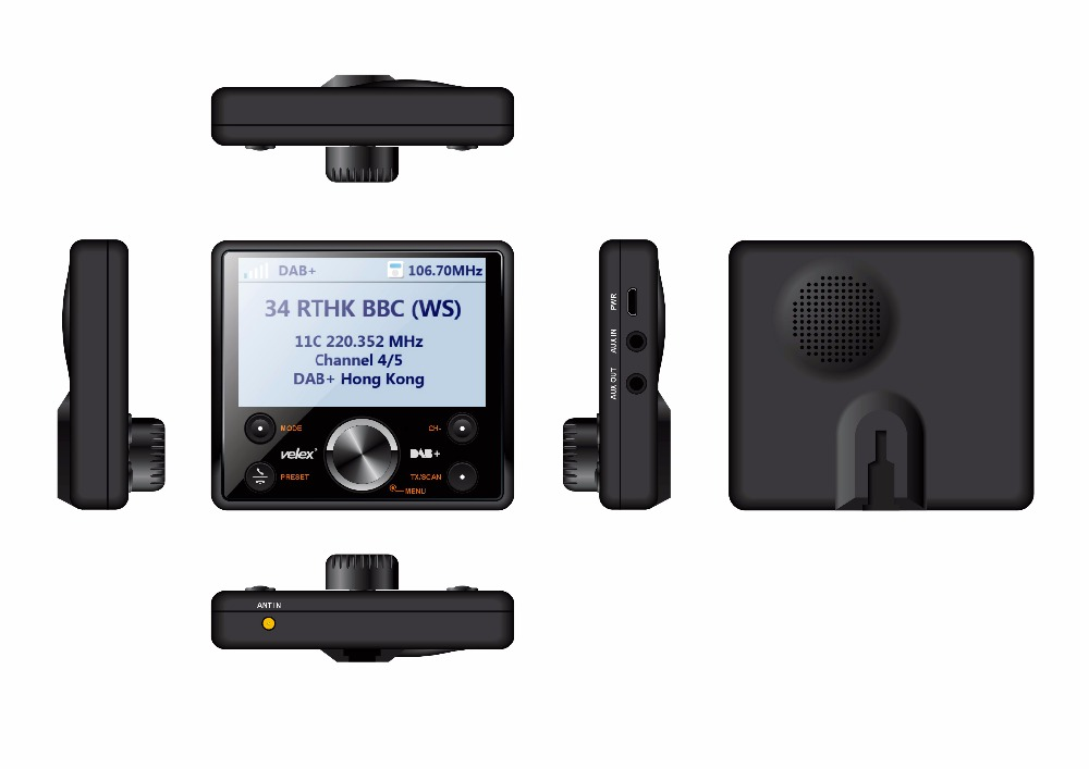 Digital Vehicle DAB+ Digital Radio with FM Transmitter, Bluetooth DAB+ Radio Output Include Antenna