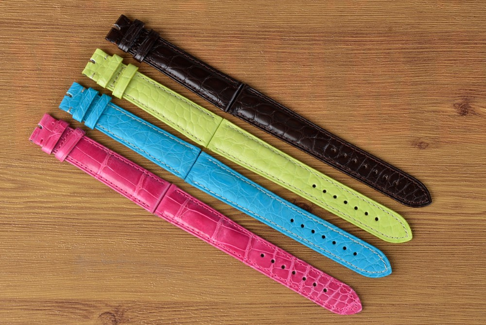 Custom logo 100% real crocodile leather watch band_4.JPG