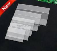 2-4mm thickness acrylic supermarket shelf adhesive label holder