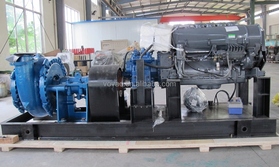 High quality 6 inch sand pump driven by diesel engine