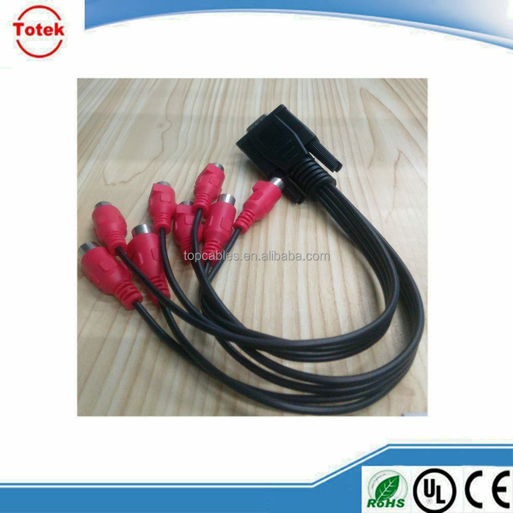Custom male to female VGA to RCA cable