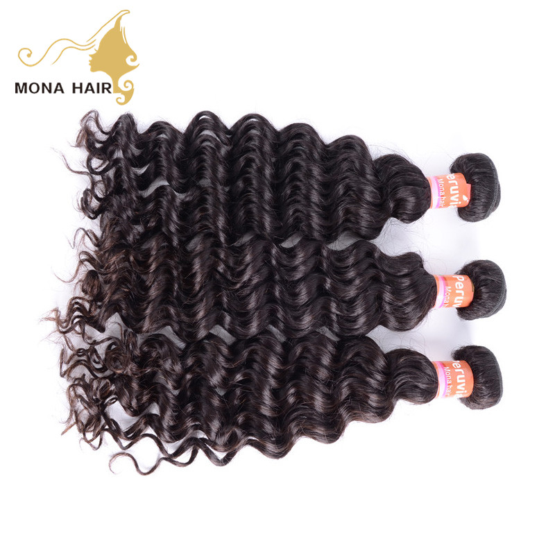 100% return policy fast delivery good quality deep wave bundles virgin hair unprocessed