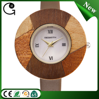 Private custom cheap wooden case quartz watch waterproof watches