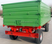 hot sale Euro style tractor use hydraulic 10Ton,heavy duty farm tipping trailer, rear and side tipping with CE