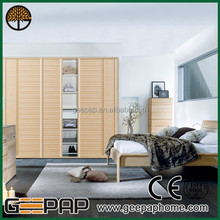 Latest design Flat Sliding Door Wardrobe , factory prices bedroom furniture