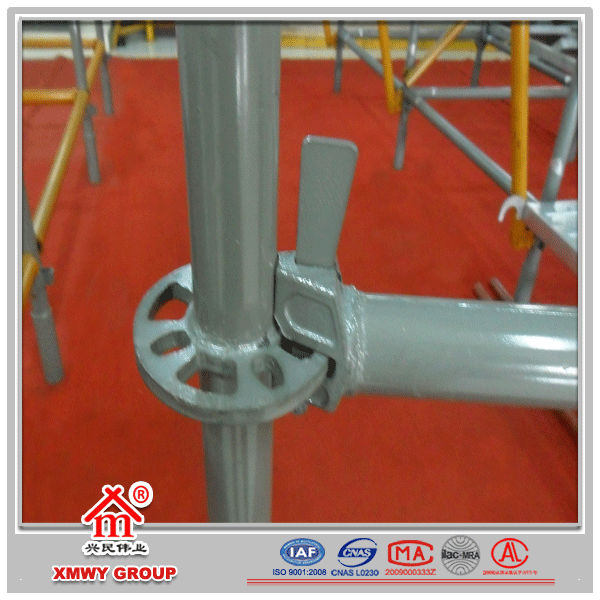 Portable Fast Building Indoor Ringlock Steel Scaffolding System for Concrete Construction