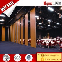 Hotel banquet room used bifold door mdf foldable movable partition wall