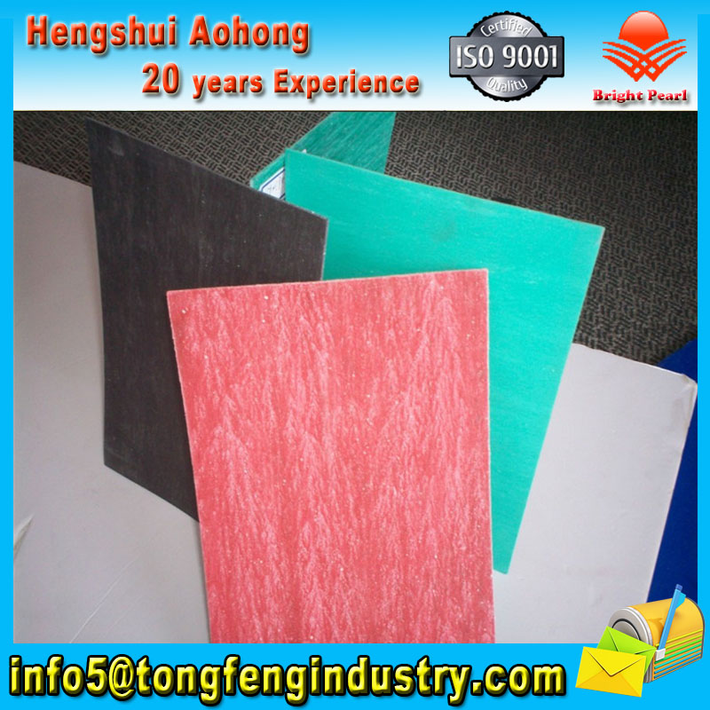 Compressed Non asbestos rubber sheets with wire net(graphite surface)