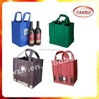 new 2016 low price customized 6 pack wine tote bag wholesale