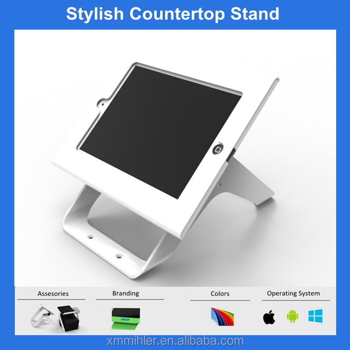 Lockable tablet enclosure stand