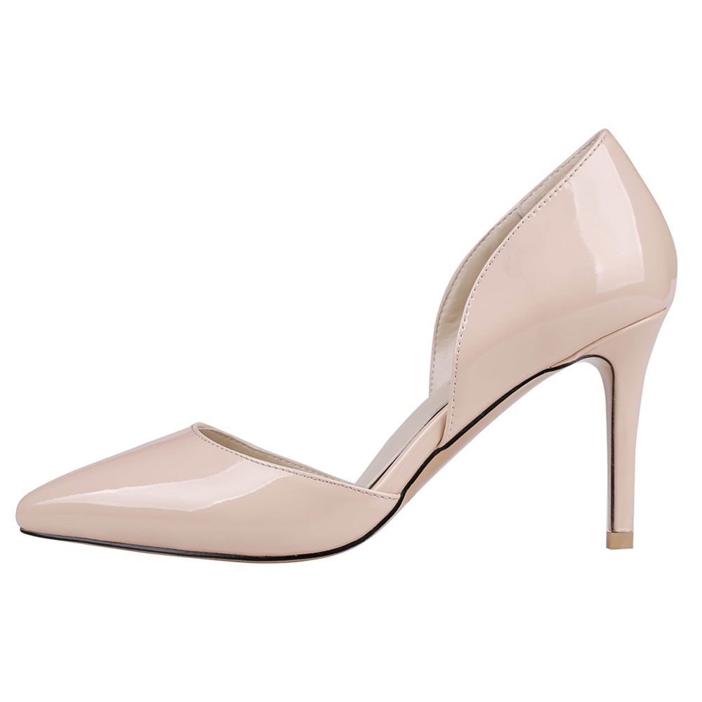 Merumote 2016 Classic Design Beige Ladies Fancy Pointed Toe Low Heel Shoes