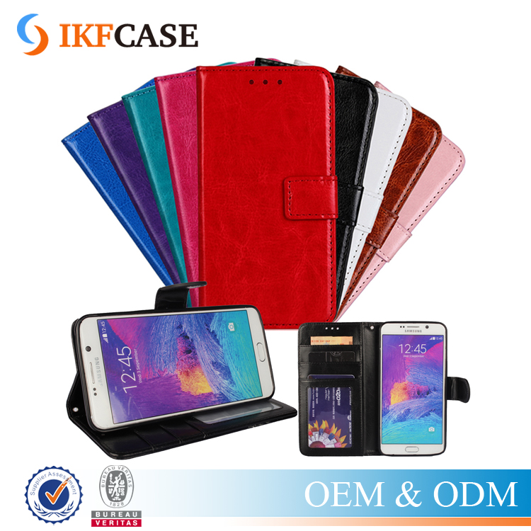Deluxe Multi-colors Leather Wallet Flip TPU Soft Case For Samsung Galaxy Note 5