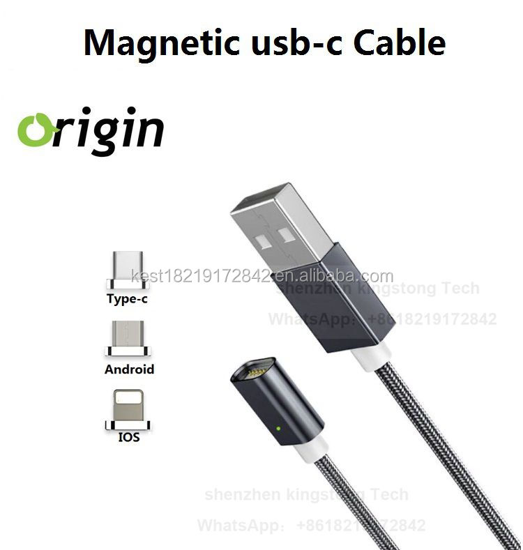 Snap and charge instantly magnetic usb-c cable,USB-C magnetic charging cable 3 in 1