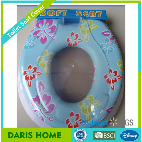 Round Comfort Printing Standard Uv Pvc Foam Toilet Seat Cover