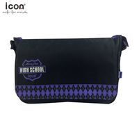 600D polyester branded sling bag for school