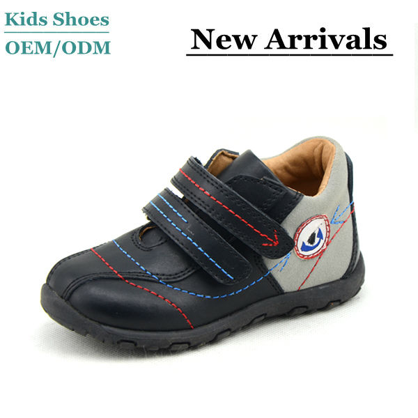 Kids Beautiful Magic Strap Leather Deck Shoes Russian Style Casual Shoes for Children