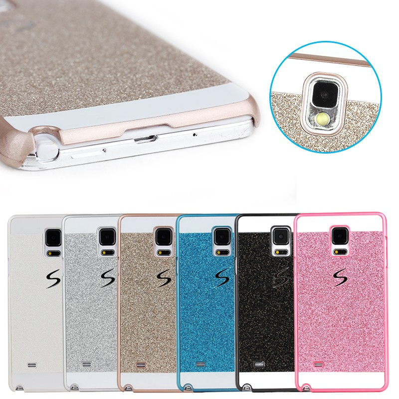 Bling Glitter powder shining Hard PC diamond case For iPhone 4 4S 5 5S 6 6s 4.7 Plus 5.5 and Samsung