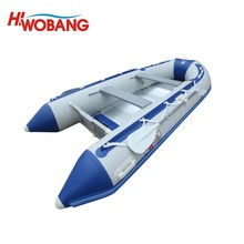 China Factory PVC Wooden Floor Motorized Inflatable Boat