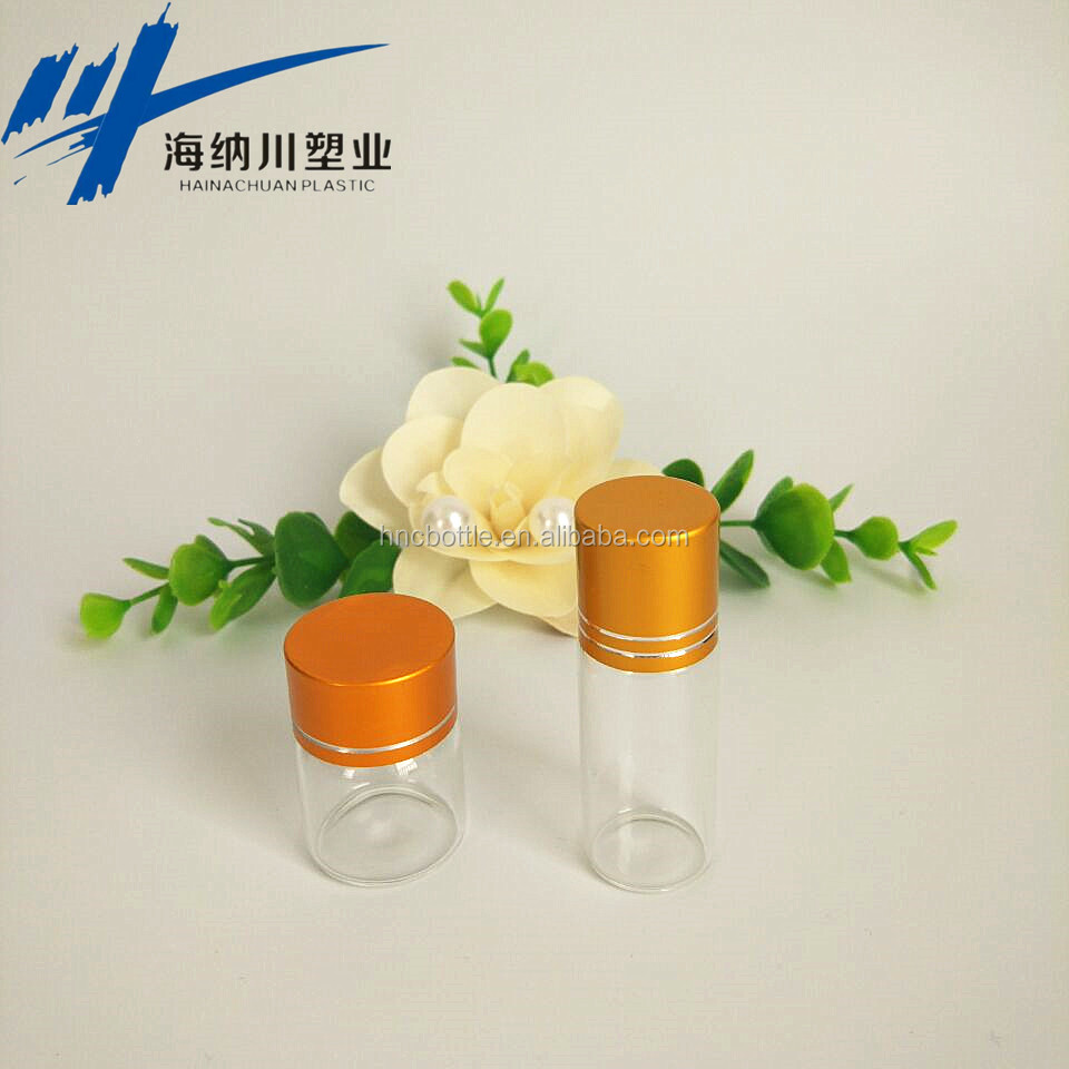 Free Shipping-2ml Excellent Mini Clear Glass Sample Bottle With White Screw On Lid Small Dropper Vial For Esse