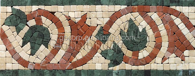 Flower marble border design marble tiles price in india SMB16