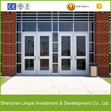 exterior commercial glass aluminum frame storefront swing door prices
