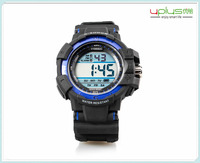 hot sell 2015 3ATM dive 7 color light sport watch with backlight for man