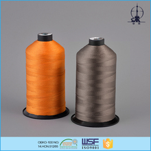 Chemical resistant 8G/D polyester bonded sewing thread