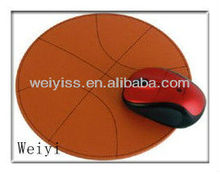 2013 New Branded Leather Basketball Mouse Pad OEM