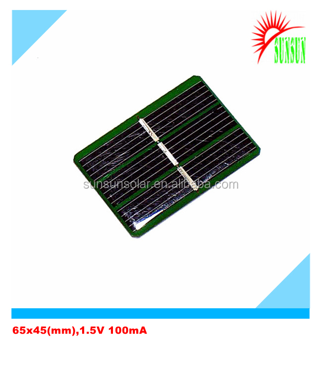 Epoxy 0.15 watt 100mA 1.5 volt solar panel