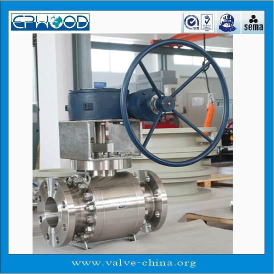 API 598 DN300 PN64 Stainless Steel Soft Seat Trunnion Mounted Ball Valve