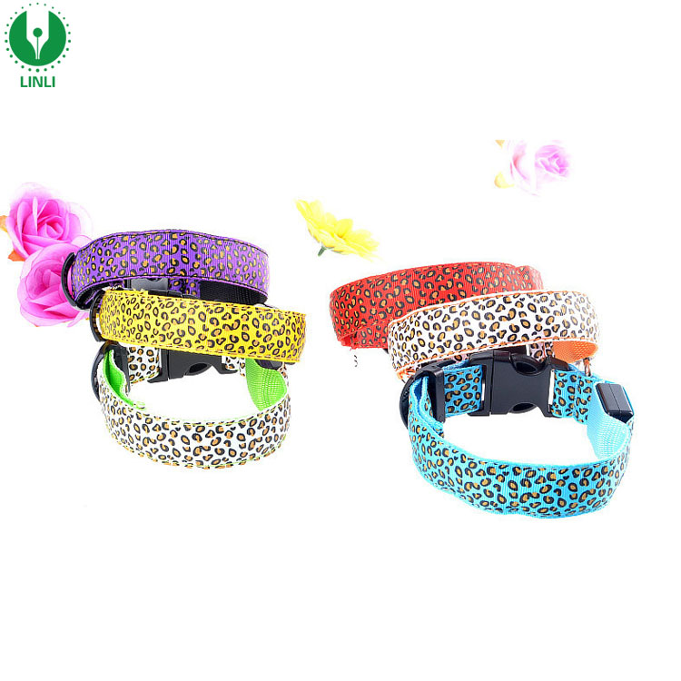 Cute Dog Product LED Dog Collar Leash Custom Print Logo Pet Collars & Leashes