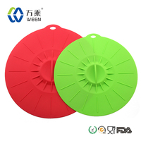 Kitchen gadget cooking utensils adjustable silicone pot cover lid, silicone pot lid pan cover
