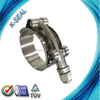 stainless steel t bolts pipe clamps with thread rod for locking tubes