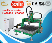 Good working effort desktop mini metal PCB jewelry stone engraving cnc router machine 9060 6040/smart cnc router
