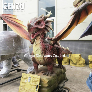 Amusement Park Equipment High Simulation Flying Dragon Toy