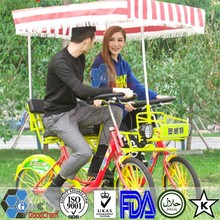 Hot Sale Luxurious Alloy wheel 2 Person Four Wheel Quadricycle Surrey Sightseeing Bike