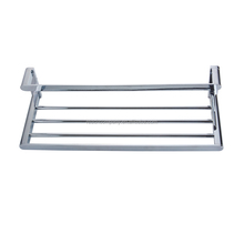 Salon Floor Paper Folding Wire Towel Rack Stainless Steel