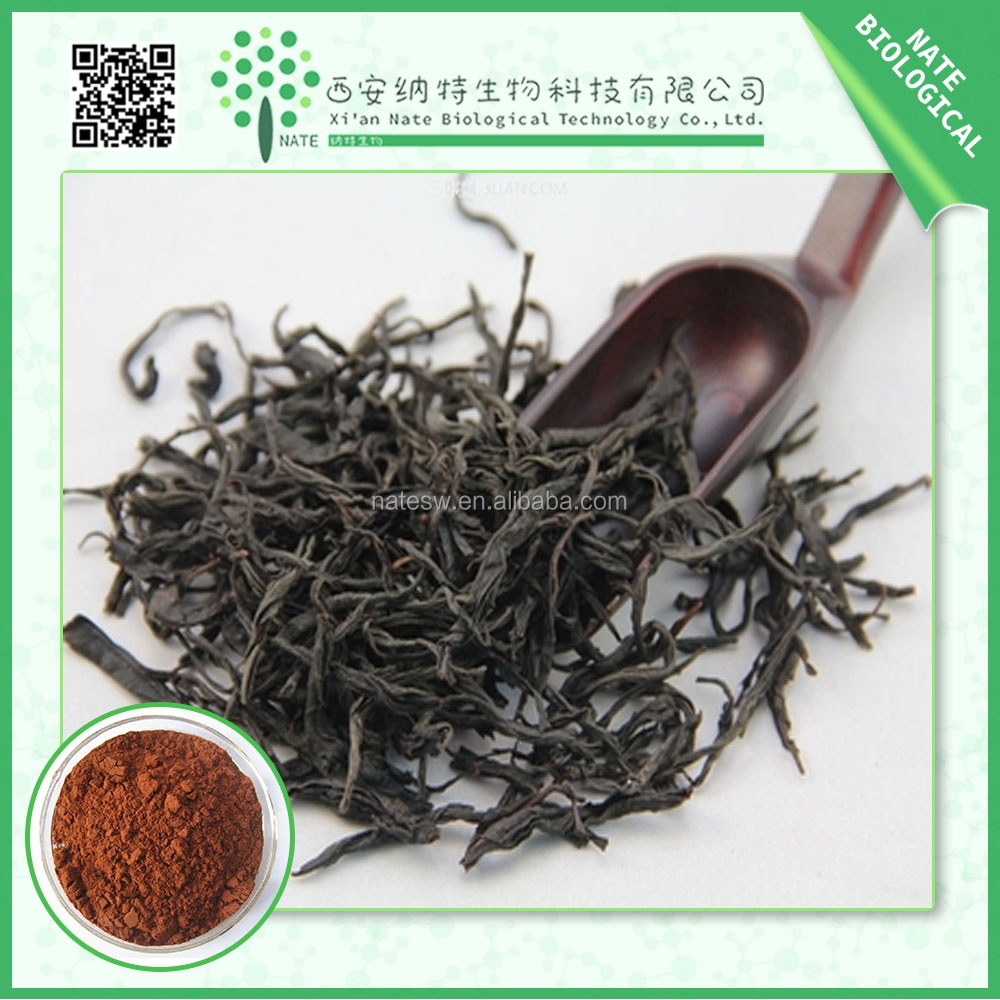 Factory Direct Supply 100% Natural Black Tea Extract 40% Polyphenol by UV