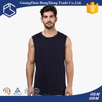 Hot sale simple color blank dri fit sleeveless t shirts wholesale