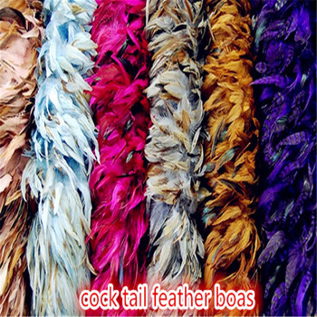 100 grams rooster tail feather boas for party or carniva