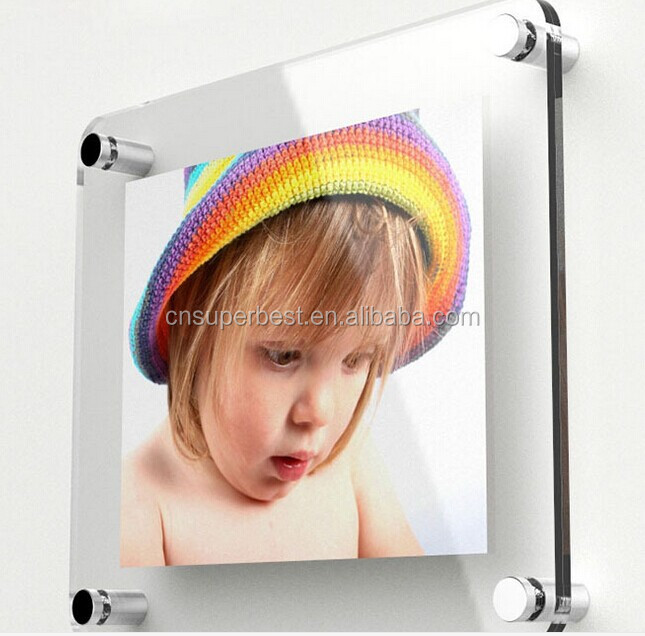wall mounted acrylic poster frame made by acrylic material
