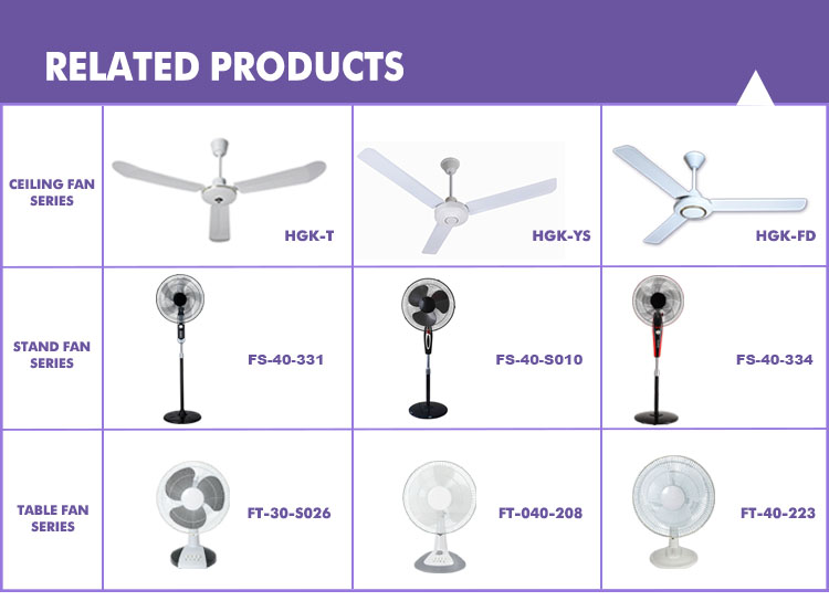 56'' home energy saving 220v white ceiling fan with led light