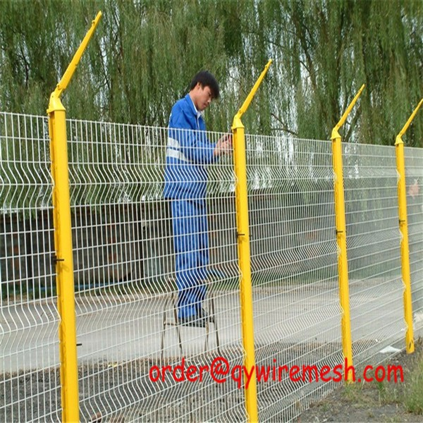 highway PVC coated 3'5'8 steel metal fence (professional factory )