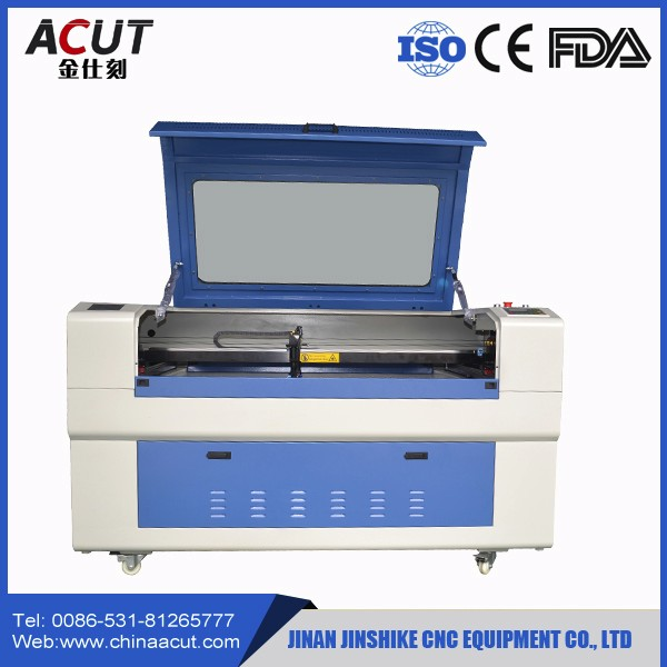 ACUT-1610 co2 double heads auto feeding laser cutter for fabric leather clothing