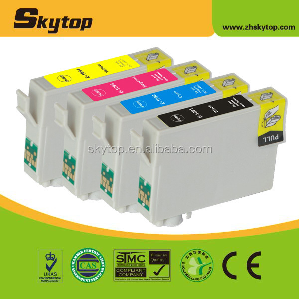 New compatible ink cartridge for EPSON T1091 T1092 T1093 T1094 with dye ink