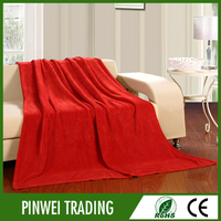 2015 online products plain travel outdoor polyester mink blanket