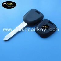 Wholesale price 1 button car remote key shell without logo car key transponder chip for suzuki transponder chip key