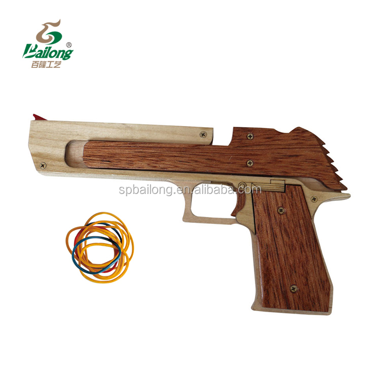 15 years professional factory CNC rubber band shooting wooden toy <strong>gun</strong>