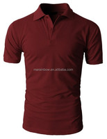 100 cotton Mens Casual Basic designed Pique Polo Slim Fit Shirts Short Sleeve for men customized
